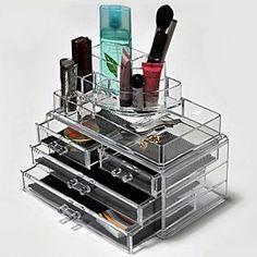 Makeup Organizer Cosmetics Acrylic Clear Case Storage Insert Holder Box New B | eBay
