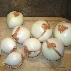 Onion Bombs . No directions on the website, but fairly simple to make. Peel onion, slice in half; each layer becomes a wrapper for the onion bomb. Fill with ground meat or meatloaf. Wrap in foil, place on grill or coals. Grill until center ins done.