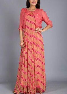 Pink Georgette Tunic #Shop #Now #Tunics #Anarkalis #By #Vasansi #Jaipur