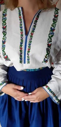 Cross Stitch, Costumes, Embroidery, Blouse, Shirts, Tops, Women, Long Sleeve, Sleeves