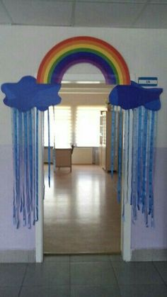 It is a nice wall decoration idea for kids room or preschool wall decorate.