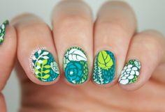 Succulent Inspired Nail Art (yes, nail art!)