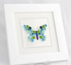Mosaic Butterfly - Fused glass wall art £25.00