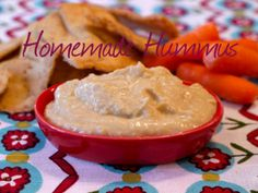 Homemade Hummus #recipe.