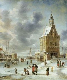 The City Gate of Hoorn, by Jan Abrahamsz Beerstraaten, Dutch, 1622-1666.