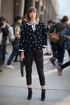 Street Style Fall 2013: New York Fashion Week Street Style - Anya Ziourova