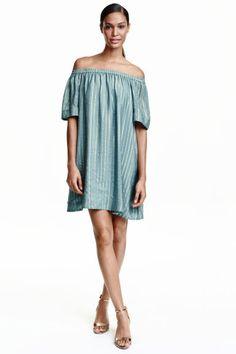 Vestido em seda brilhante | H&M