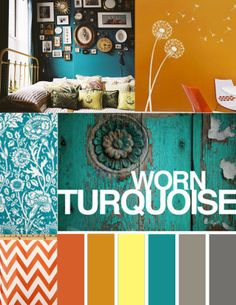 room plan. #turquoise, not sure about the orange though