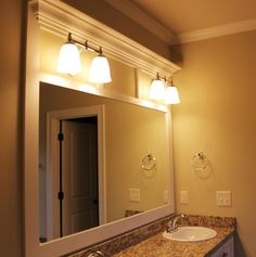 Bathroom Mirror Framed With Crown Molding   Pinterest   Crown Molding Mirror,  Moldings And Crown