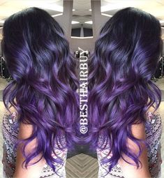 Everyday Introduce--♥The 1B/Purple Ombre hair, I love this color, it is so cool and special!♥