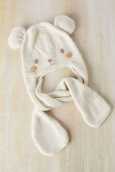 38dba72f0 El blog de Dmc  Patrón tricot de regalo  gorro osito con Woolly Bufanda De