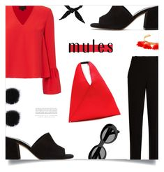 """""""Slip 'Em On: Mules"""" by loloksage ❤ liked on Polyvore featuring Exclusive for Intermix, The Row, Maryam Nassir Zadeh, MM6 Maison Margiela, Acne Studios, Marte Frisnes and Kerr®"""