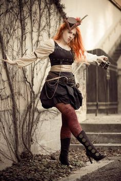 Watch out for this ginger steampunk airship pirate, photo taken by Belinda Bärtzner <3