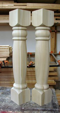 "Custom kitchen island legs. 6"" x 36"" poplar legs to be painted."