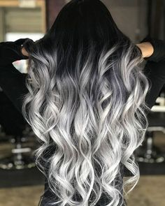 Black to Grey to Silver Ombre Hair me for Cute Silver Inspiration!Black to Grey to Silver Ombre Hair Black to Grey to Silver Ombre Hair me for Cute Silver Inspiration!Black to Grey to Silver Ombre Hair Silver Ombre Hair, Ombre Hair Color, Cool Hair Color, Black To Silver Ombre, Black To Grey Ombre Hair, Hair Color Black, Grey Hair With Black Roots, Black Hombre Hair, Dyed Hair Ombre