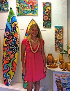 Colleen Wilcox - surfer girl & artist - love her style!