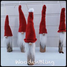 Ornaments, Christmas decorations, Santa, Reclaimed Ornaments, Handmade, Rustic Ornaments, gifts, Wood, Housewarming, Santa Claus Ornament by WoodenBLING on Etsy