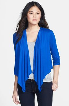 Chaus Open Drape Front Cardigan available at #Nordstrom