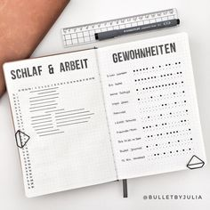 // HABITS [WERBUNG] I& rarely satisfied when I try out a new layout for the first time. Most of the time I fall during the . Bullet Journal Tracker, Bullet Journal Spread, Bullet Journal Layout, Bullet Journal Inspiration, Bullet Journals, Journal Ideas, Bujo, Organization Bullet Journal, Scrapbook Journal