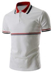 Striped Trim Polo T-Shirt