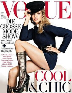 A very cool & chic Natalia Vodianova on the cover of Vogue Germany.
