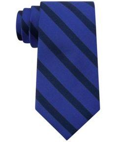 Tommy Hilfiger Men's Slide Stripe Tie - Blue