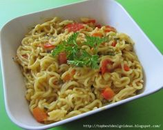 Maggi masala noodles  http://topbestdesignideas.blogspot.in/2014/06/maggi-masala-noodles-recipe.html