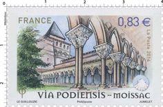 Timbre : 2014 Via Podiensis - Moissac | WikiTimbres