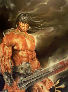 Conan The Liberator by Jason Eden Comic Art High Fantasy, Fantasy World, Fantasy Art, Eden Fantasy, Fantasy Heroes, Fantasy Warrior, Comic Book Heroes, Comic Books, Fantasy Literature