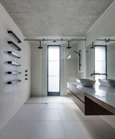 modernes geräumiges Gäste Bad gestalten Sichtbeton