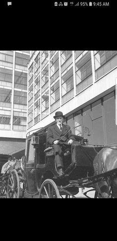 Outside Bus Auras in Dublin, Ireland in 1957 Horse Drawn, Auras, Dublin Ireland, The Outsiders, Horses, Horse