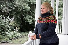 You can purchase kits at a reduced price to knit this sweater in multiple colourway choices here!