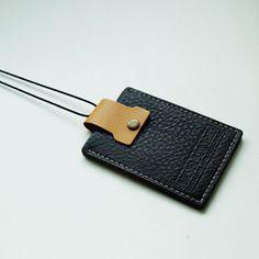 Genuin Leather ID Card Holder / Transportation Card Holder / Handmade