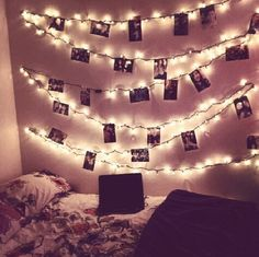 decorating room with christmas lights - Google Search.. could be idea for wedding outside of as to decorate a wall