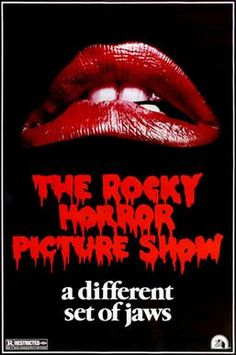 Rocky Horror Picture Show - 1984 U.S Video Release Poster. Size: x Printed in USA Description: Lips & logo on black background. Heavy red border all round. Advertising poster for 1984 CBS release. Rocky Horror Show, The Rocky Horror Picture Show, Tim Curry Rocky Horror, Movie Poster Size, Movie Showtimes, Classic Movie Posters, Film Posters, Film Review, Show Photos