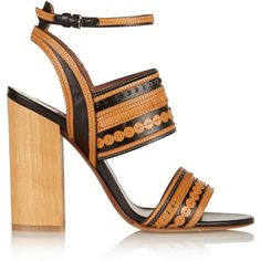 Tabitha Simmons Shaewood leather sandals (14.285.600 IDR) ❤ liked on Polyvore