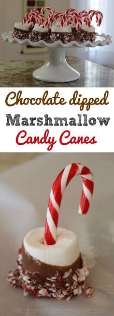 Easy Recipe: Chocolate Dipped Marshmallow Candy Canes -w/ a few simple ingredients you can create a chocolate & peppermint treat perfect for Christmas parties and holiday get-togethers! Festive holiday dessert. Easy party snack. #BIGSeason #BigLots @biglots #ad