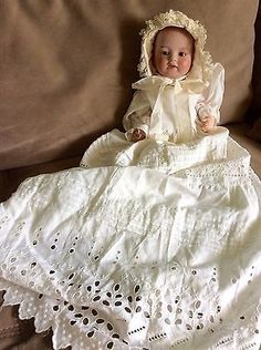 """Antique Vintage Nippon Bisque Composition Doll 12"""" Jointed Marked 502 602?"""