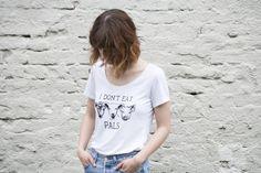 I Don't Eat Pals - Organic scoop T-shirt - Women's cut