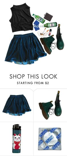 """""""Party"""" by vuesurciel ❤ liked on Polyvore featuring American Apparel, Dr. Martens and Kikkerland"""