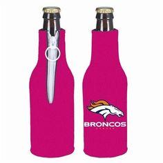Denver Broncos NFL Hot Pink Bottle Suit Cooler