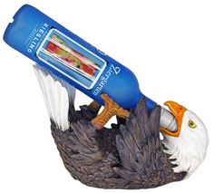 "Freedom of Imbibe Eagle Wine Holder in uncletomstoystore's Garage Sale in Portland , OR for $28. Features: Decorative wine bottle holder is made from highly detailed poly resin  Paint is baked into surface to prevent chipping  Designed to hold one standard sized bottle of wine  Overall length: 11"" this eagle well be on your door step in 7 to 14 days  if you would like you may click on our facebook fan page  http://www.facebook.com/pages/Garage-Sale-Site/28104 ..."