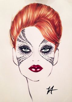 artistic face charts - Google Search