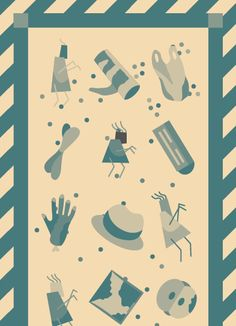 Trash Anchors vector zombie and trash illustration by Nick Hoobin