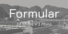 Formular, font by Brownfox. Formular can be purchased as a desktop and a web font. Sans Serif Fonts, Font Family, Premium Fonts, Desktop, Typography, Lettering, Type, Artwork, Projects