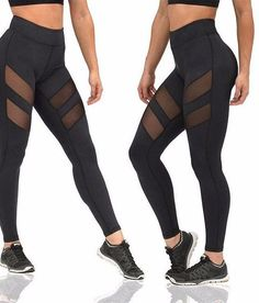 Our mesh workout leggings are an edgy, re-worked design that improves on the classic yoga pant. These amazing leggings feature two mesh cut outs on each thigh. This is a one of a kind design element t