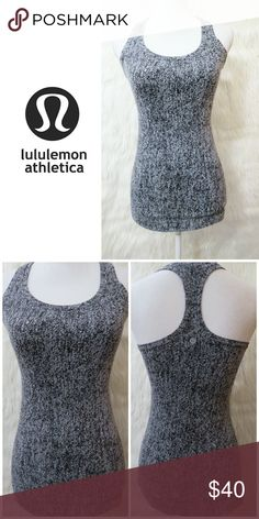 8d60fc990f9 Lululemon Tank 💖 Black and white racerback tank top No rip tag or size dot