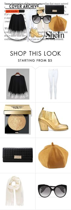 """""""Black Crochet Top-SheIn"""" by alittledramatic on Polyvore featuring Miss Selfridge, Bobbi Brown Cosmetics, Marsèll, Vivienne Westwood, Alexander McQueen and NYX"""