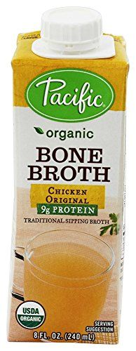 Pacific Natural Foods Organic Bone Broth Chicken Original -- 8 fl oz Pacific Natural Foods http://www.amazon.com/dp/B00QGABYPS/ref=cm_sw_r_pi_dp_JiNmwb0KR3QS9