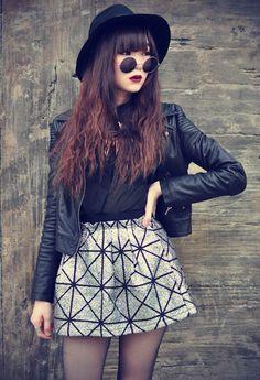 Leather Jacket - Motelrock,  Skirt - theedictorsmarket